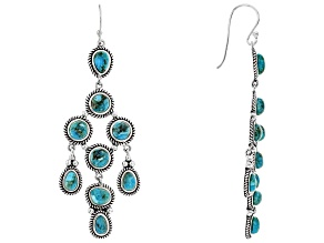 Pre-Owned Turquoise sterling silver dangle earrings