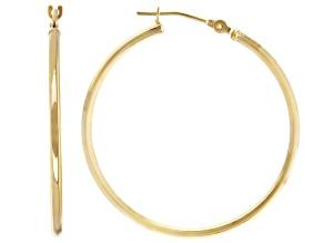 Pre-Owned 14K Yellow Gold 30MM Tube Hoop Earrings