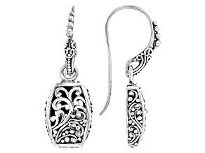Pre-Owned Oxidized Sterling Silver Filigree Earrings