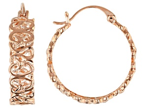 Pre-Owned Copper Filigree Hoop Earrings