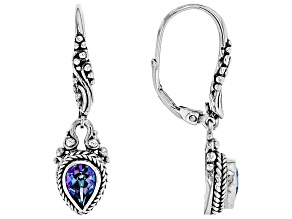 Pre-Owned Blue Sheer Luck™ Mystic Topaz® Silver Dangle Earrings 1.28ctw