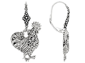Pre-Owned Sterling Silver Rooster Earrings