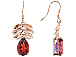 Pre-Owned Red Savage Fire™ Quartz Copper Earrings 4.81ctw