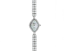 Pre-Owned Ladies Round Diamond Simulant 14.4ctw Sterling White Watch