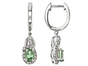 Pre-Owned Green Kyanite Sterling Silver Earrings 1.22ctw