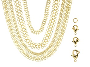 Pre-Owned Unfinished Chain in 3 Styles in Gold Tone including Findings