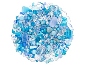 """Pre-Owned YouTube Only Czech Glass Beads 1/2lb Bag Of Assorted Shapes And Sizes in """"Snow Queen"""""""