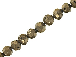 """Pre-Owned YouTube Only Druzy Agate Brown Faceted appx 8mm Round Bead Strand appx 8"""""""