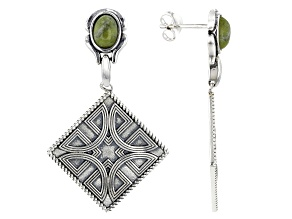 Pre-Owned Connemara Marble Silver Earrings