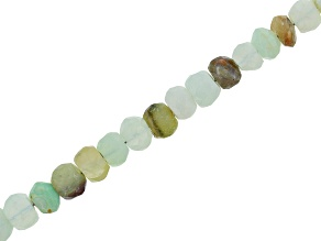 Pre-Owned Multi-Color Peruvian Opal Graduated Faceted appx 3-5mm Rondelle Bead Strand Appx 15-16""