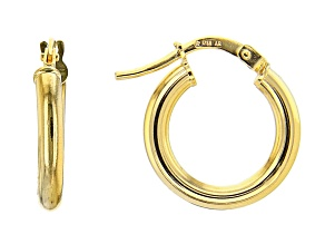 Pre-Owned 10K Yellow Gold 10MM High Polished Hoop Earrings