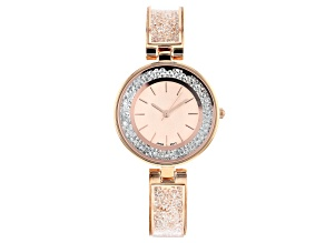 Pre-Owned Ladies Rose Gold Tone & Crystal Watch