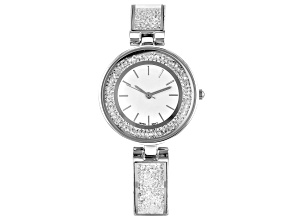 Pre-Owned Ladies Silver Tone & Crystal Watch