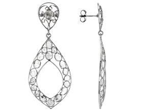 Pre-Owned Polki Diamond Sterling Silver Earrings
