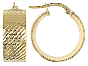 Pre-Owned 14K Yellow Gold Hoop Earrings