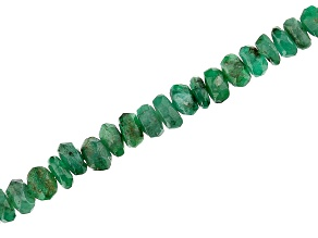 """Pre-Owned Emerald Appx 2-4mm Graduated Faceted Rondelle Bead Strand Appx 20"""" Length"""