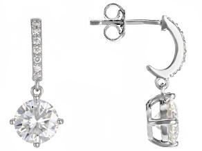 Pre-Owned MOissanite Platineve Earrings 2.54ctw DEW