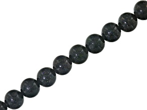 Pre-Owned Black Honduran Opal appx 7.75mm Round bead strand appx 137 ctw