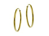 Pre-Owned 10k Yellow Gold .7mm X 16mm Mini Hoop Earrings      Hollow Center