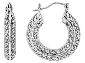 Pre-Owned Sterling Silver Hoop Earrings