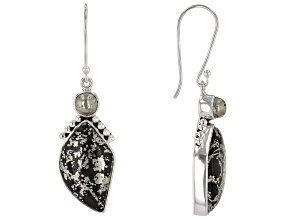Pre-Owned Apache Gold & Pyrite Sterling Silver Earrings
