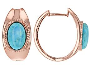 Pre-Owned Turquoise Copper Hoop Earrings