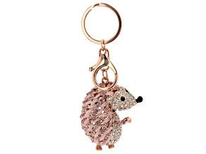 Pre-Owned Crystal Hedgehog Keychain