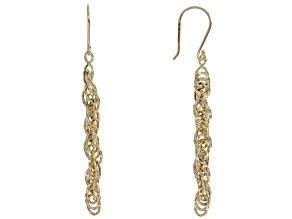 Pre-Owned 10K Yellow Gold Twist Rope Drop Earrings