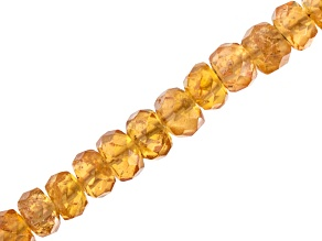 Pre-Owned Spessartite Faceted Beads Appx 3-3.5mm Strand Appx 18