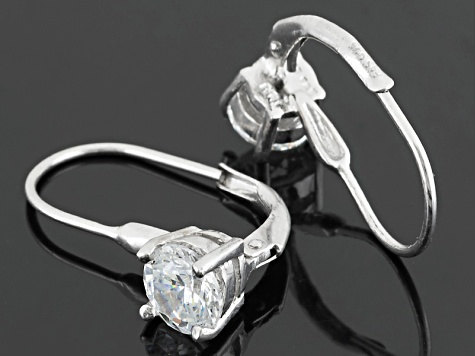 Pre-Owned White Cubic Zirconia Rhodium Over Sterling Silver Earrings 7.00ctw