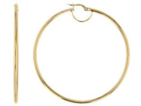 Pre-Owned Splendido Oro™ 14k Yellow Gold High Polished 50mm Tube Hoop Earrings