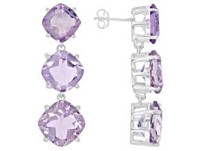 Pre-Owned Lavender Amethyst Sterling Silver Dangle Earrings 25.00ctw