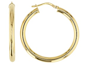 Pre-Owned 14K Yellow Gold 25MM Polished Hoop Earrings