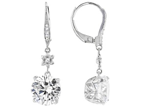 Pre-Owned White Cubic Zirconia Platineve Earrings 8.50ctw