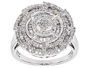 Pre-Owned White Diamond 10k White Gold Ring .75ctw