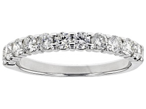 Pre-Owned White Diamond 10k White Gold Ring 0.75ctw