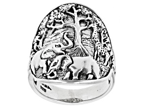 """Pre-Owned Sterling Silver """"Tree Of Wisdom"""" Safari Ring"""