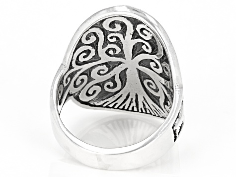 "Pre-Owned Sterling Silver ""Tree Of Wisdom"" Safari Ring"