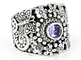 Pre-Owned Tanzanite Sterling Silver Ring .38ct