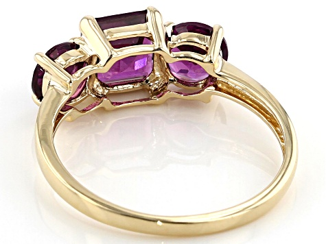 Pre-Owned Grape Color Garnet 10k Yellow Gold Ring 2.36ctw
