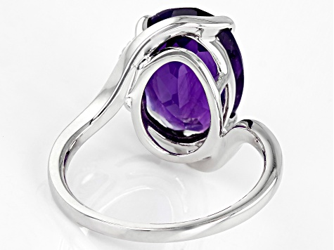 Pre-Owned Purple Amethyst Sterling Silver Ring 4.97ctw