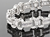 Pre-Owned White Cubic Zirconia Rhodium Over Sterling Silver Bracelet 17.66ctw