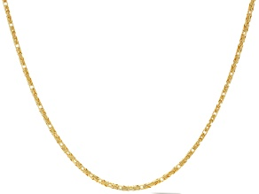 Pre-Owned 18K Yellow Gold Over Sterling Silver Byzantine Necklace