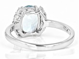 Pre-Owned Aquamarine Rhodium Over Sterling Silver Ring 1.74ctw