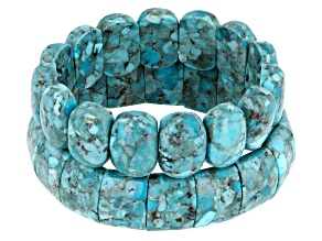 Pre-Owned  Turquoise 2 Stretch Bracelet Set