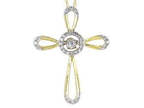 Pre-Owned Diamond 10k Yellow Gold Pendant .10ctw
