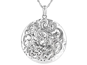Pre-Owned Sterling Silver Enhancer With Chain