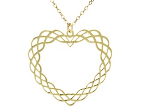 Pre-Owned 10KT Yellow Gold Tessuti Heart Pendant Necklace