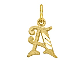Pre-Owned 10k Yellow Gold initial A Charm
