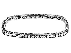 Pre-Owned Sterling Silver Scattered Jawan Bangle Bracelet